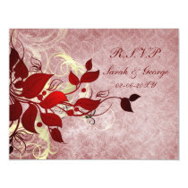 red winter wedding rsvp cards