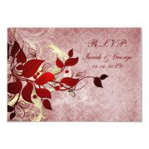 red winter wedding rsvp standard 3.5 x 5 card