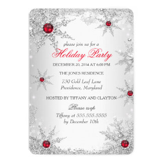 Red Winter Wonderland Christmas Holiday Party 6 Card