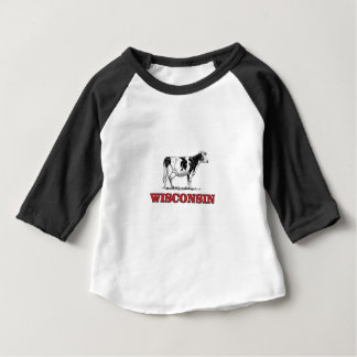 red Wisconsin cow Baby T-Shirt