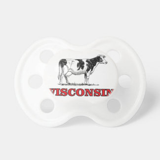 red Wisconsin cow Pacifier