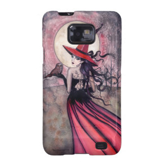 Red Witch and Owl Barely There Case Samsung Galaxy Case