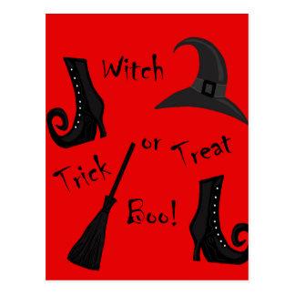 Red Witch supplies design Postcard