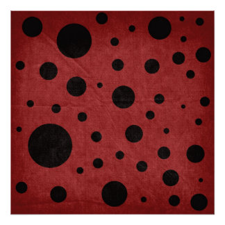 Red with Black Dots Backdrop Canvas Print