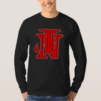 Red with Black Pinstripe T-Shirt