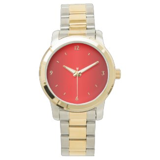 Red with Gold Numbers Watches