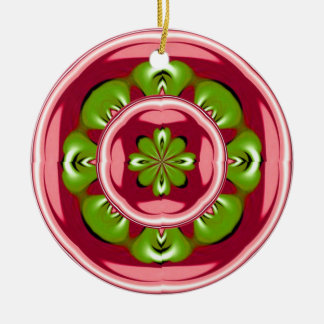 Red with Green Leaves Ornament