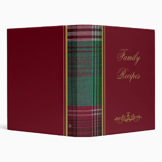 Red with Green Plaid Photo Album/Binder 3 Ring Binder