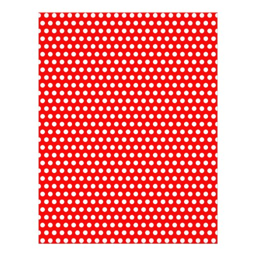 Red with Tiny White Dots Letterhead