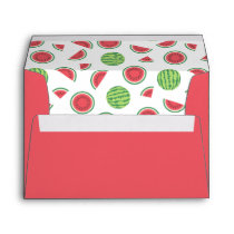 Red with Watermelon Patterned Liner Envelope