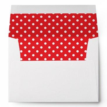 partridgelanestudio Red With White Dot and Return Address Envelope