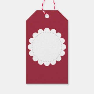Red With White Label Pack Of Gift Tags