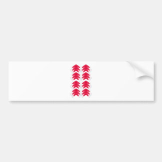 Red with white Ornaments Bumper Sticker
