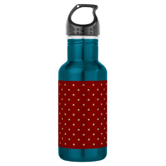 Red with White Polka Dots Water Bottle
