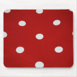 Red with White Spots Mouse Pad