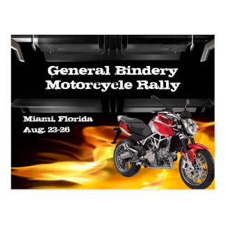 Red Wiz Bike Burner Postcard