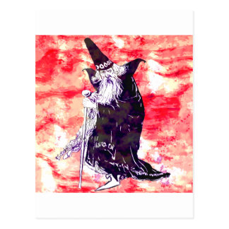 Red Wizard Postcard