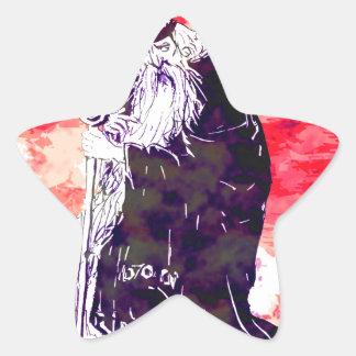 Red Wizard Star Sticker