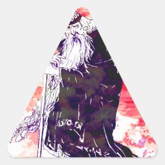 Red Wizard Triangle Sticker