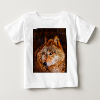 Red wolf fractal baby T-Shirt