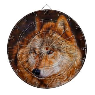 Red wolf fractal dart board