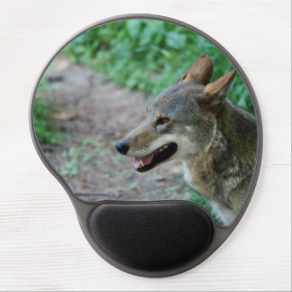 Red Wolf Gel Mouse Pads