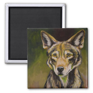 Red Wolf Magnet