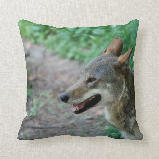 Red Wolf Pillows