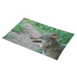 Red Wolf Cloth Place Mat