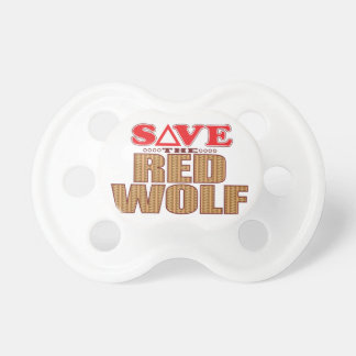 Red Wolf Save Pacifier
