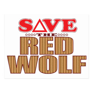 Red Wolf Save Postcard