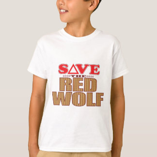 Red Wolf Save T-Shirt