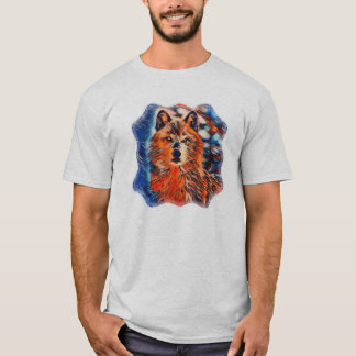 Red Wolf Wolves Wildlife Mens T-shirt