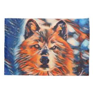 Red Wolf Wolves Wildlife Pillowcase