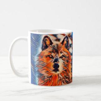 Red Wolf Woves Wildlife Coffee Mug