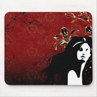 red women mousepad