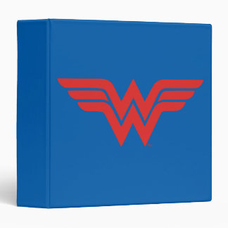 Red Wonder Woman Logo 3 Ring Binder