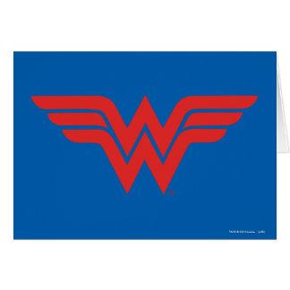 Red Wonder Woman Logo Card