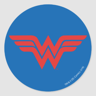 Red Wonder Woman Logo Classic Round Sticker