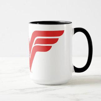 Red Wonder Woman Logo Mug