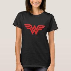 Red Wonder Woman Logo T-shirt at Zazzle