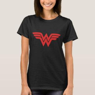 Red Wonder Woman Logo T Shirt