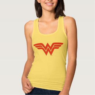 Red Wonder Woman Logo Tank Top
