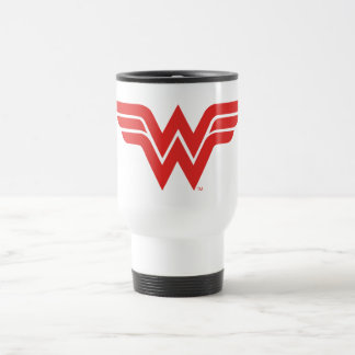 Red Wonder Woman Logo Travel Mug