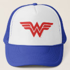 Red Wonder Woman Logo Trucker Hat