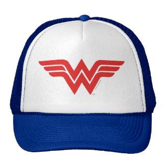 Red Wonder Woman Logo Trucker Hat