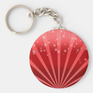 Red Wonderland Basic Round Button Keychain