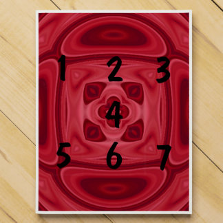 Red wood abstract pattern countdown calendar