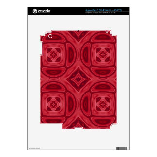 Red wood abstract pattern iPad 3 skins