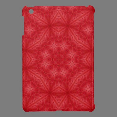 Red wood abstract pattern iPad mini covers